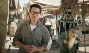 JJ Abrams on the set of Star Wars: the Force Awakens.