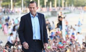 Tony Abbott in Manly.