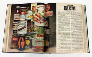 F is for Food. Food and drink is well represented in the GNM Archive, in image files and in oral histories from those who brought cookery to the newspapers' pages. This page from an early Observer colour magazine in 1965 shows a typically vivid image, showing  brightly coloured packaged food and sauce bottles, accompanying one of many articles by Clement Freud, Observer Cookery Editor 1964-1968.