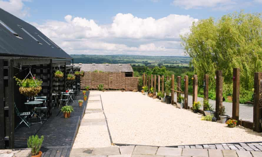 There are great views across the Powys countryside from the B&B