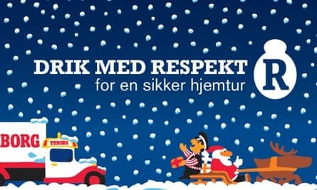 Tuborg advert for Julebryg says 'drink with respect'