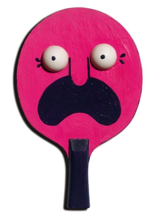 Rob Flowers the art of Ping Pong bats