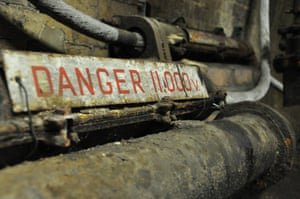 Electricity in underground tunnel