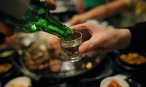 South Korean drink soju