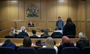 A mock court room