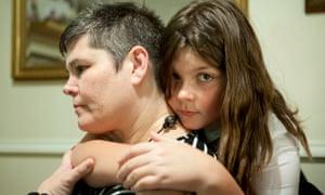 Lesley Davis and her carer Antonia-Rae