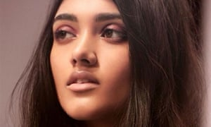 Neelam Gill gives serious eyebrow for the Burberry campaign