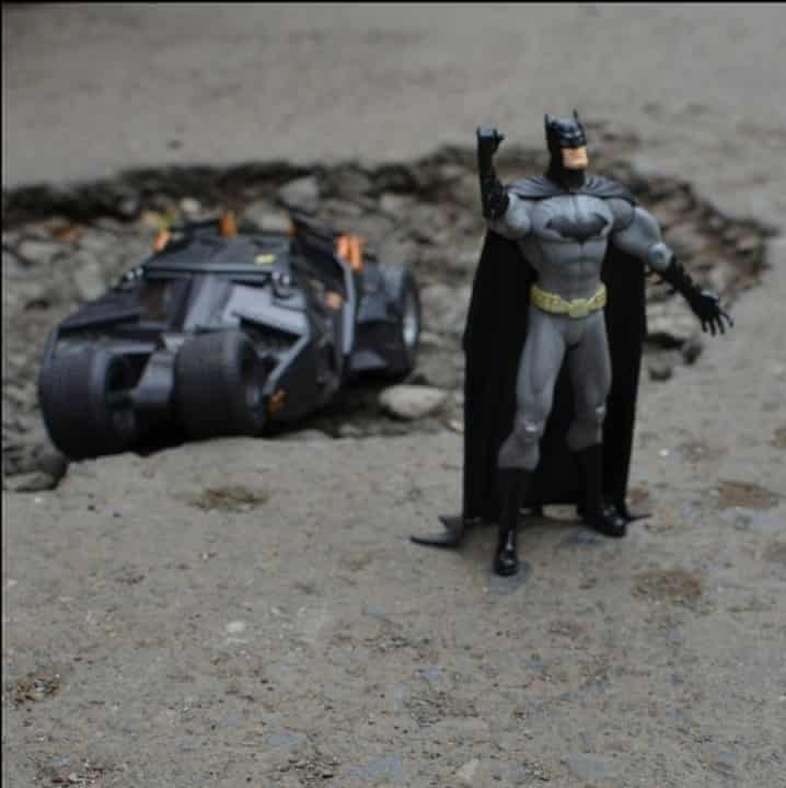 Batman is one of many figures to have featured in the campaign.