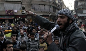 An Isis member urges citizens of Aleppo to join the organisation