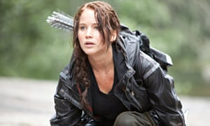 Jennifer Lawrence stars as Katniss Everdeen in the film adaptation of The Hunger Games