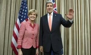 Julie Bishop and John Kerry