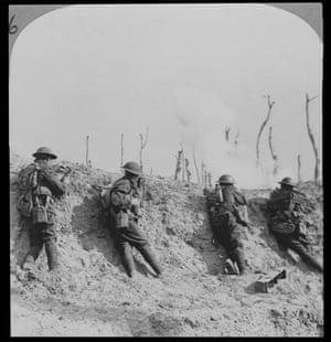 Firing trench line at Passchendaele