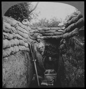 French trench with dart bombs