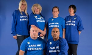 Striking Care UK workers