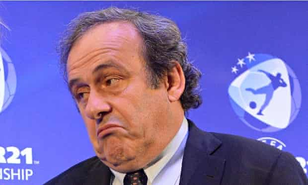 President of UEFA Michel Platini (R) and