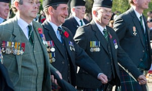 Veterans march as part of the Remembrance Sunday service at the Cenotaph memorial in Whitehall.