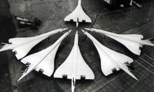 Concordes at Heathrow airport in 1986