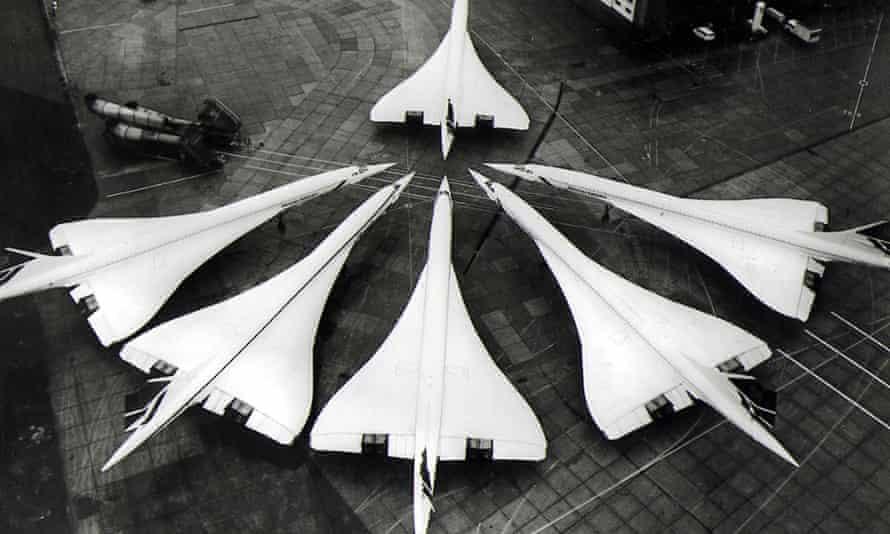 Concordes at Heathrow airport in 1986