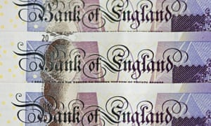 Twenty pound sterling notes