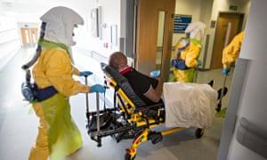 Ebola practice at a UK hospital