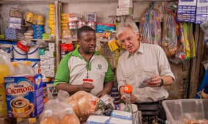 Simon Berry of ColaLife visits a retailer in Zambia.