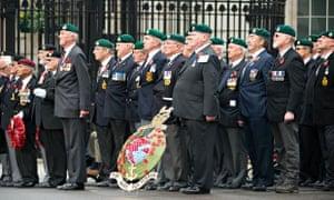 Remembrance Sunday veterans