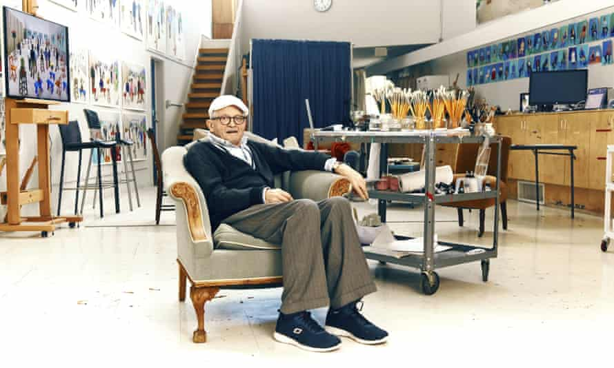 Hockney in his Los Angeles studio.