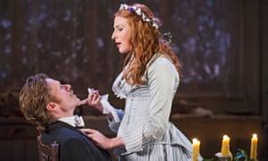 Shaun Evans (Jean) and Rosalie Craig (Miss Julie) in Miss Julie at the Minerva theatre, Chichester.