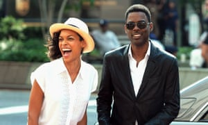 Chris Rock alongside his co-star in Top Five, Rosario Dawson