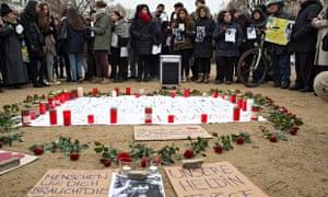 People rally in Berlin to remember Tugce Albayrak