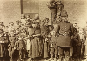 The Crowd waiting to see a policeman's funeral, Lambeth, 1892. by Paul Martin