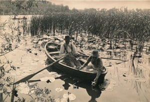 Gathering Water Lilie', 1886 by Peter Henry Emerson.