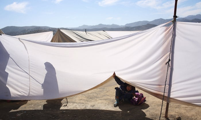 Living in a minefield: the refugee camp where Pakistanis are a step