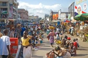 A busy street in Accra, Ghana
