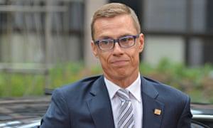 Finnish prime minister, Alexander Stubb,