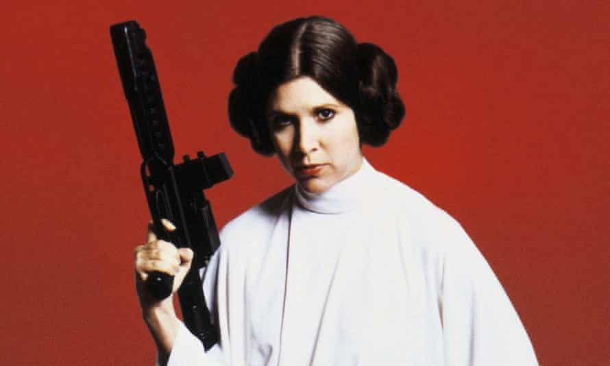 """Carrie Fisher's Princess Leia an angry heroine """"whose anger was ultimately sublimated to affection""""."""