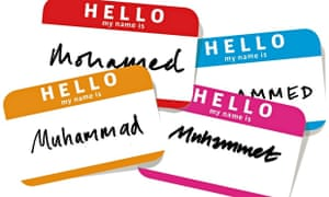 Muhammad name tags