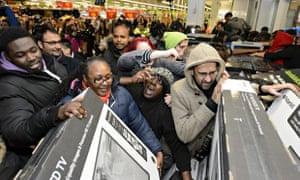 Black Friday Sales at Asda Wembley Superstore, London, Britain - 28 Nov 2014