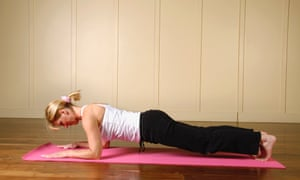 Plank pose - using your own body weight as resistance.