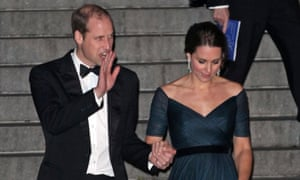 William and Kate leave the Metropolitan Museum of Art in New York after a fundraising dinner for St Andrews University where they met.