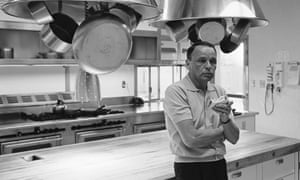 Frank Sinatra pictured in the newly renovated kitchen of his Palm Springs home in 1964.