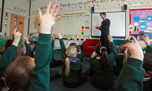 Pupils answer questions in a classroom in Bristol