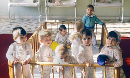 Romania, children in an orphanage in  mid 1990s.