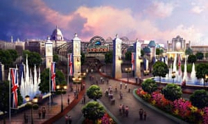 An artist's impression of the London Paramount Entertainment Resort