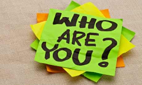 Who are you question - handwriting on a green sticky note