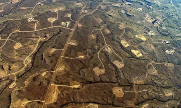 """Fracking wellpads in Wyoming in the USA: """"a total and utter form of destruction"""", the International Tribunal on the Rights of Nature was told."""