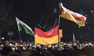 An anti-Islamisation demonstration in Dresden this week