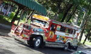 A 'jeepney' in Manila.