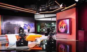 Russia Today's English-language news studio in Moscow