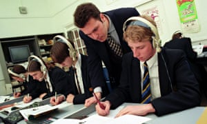 Pupils in a language class in a secondary school.